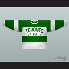 """Toronto St Pats 1919-22 Hockey Jersey Any Name or Number New. SHIPPING TIME IS ABOUT 3-5 weeks I HAVE ALL SIZES and can change Name and Number (Width of your Chest)+(Width of your Back)+ 4 to 6 inches to account for space for a loose fit Example: 18"""" wide chest plus 18"""" wide back plus 4"""" of space, would be a size 40"""" Please consider ordering a larger size, if you plan to wear protective sports equipment under the jersey. size chart chest: XS 30""""-32"""" Chest Measurement (76-81 cm) S 34""""-36""""…"""