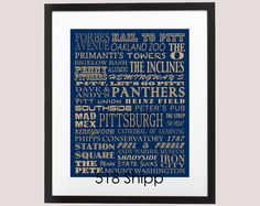 University of Pittsburgh Panthers Typography Subway by 518Shipp, $25.00