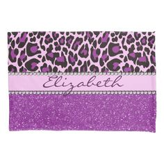 Shop Personalized Purple Leopard Print Glitter Pillowcase created by ironydesigns. Personalize it with photos & text or purchase as is! Pink Leopard Print, Leopard Pattern, Custom Gift Bags, Customized Gifts, Mobile Spray Tanning, Personalized Pillow Cases, Personalized Gifts, Large Gift Bags, Vibrant Colors