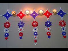 Rangoli design toran type for deewali - YouTube