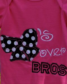 Bows over Bros applique by RileyAnneBoutique on Etsy, $20.00