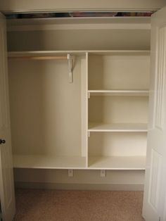 Bedroom closet storage gorgeous master bedroom closet shelving best closet shelves ideas on closet redo closet master bedroom closet storage ideas Closet Redo, Shelves, Wood Closet Shelves, Diy Shelves, Diy Closet Shelves, Closet Designs, Wood Diy, Closet Organization, Shelving