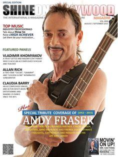 Shine on Hollywood Magazine – Andy Fraser Hollywood Magazine, Popular Artists, E Magazine, Music Industry, Promotion, Let It Be, Motivation, Inspiration