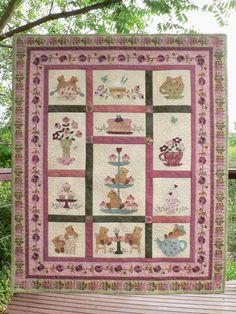 Teddy Bear Tea Party Quilt Pattern by Teddlywinks on Etsy, $24.00