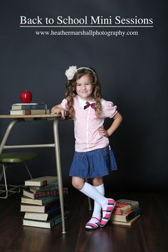 Back to School Sessions with Heather Marshall Photography Kindergarten Photography, Kindergarten Photos, Kindergarten Graduation, Back To School Pictures, School Photos, School Portraits, 1st Day Of School, Graduation Pictures, Children Photography