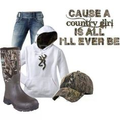 Camo...not entirely a country girl, but I like everything except the boots. :)