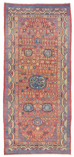 Large Khotan Palace carpet, East Turkestan, c. 1800