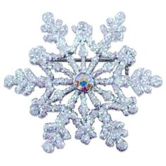 Pugster Inspired Snowflake Winter Clear White Swarovski Crystal Diamond Accent Brooches And Pins For Holiday Gifts Pugster. $14.29. Exquisitely detailed designer style with Swarovski cystal element.. Money-back Satisfaction Guarantee.. Occasion: casual wear,anniversary, bridal, cocktail party, wedding. Can be pinned on your gown or fastened in your hair with bobby pins.. One free elegant cushioned Gift box available with every order from Pugster.