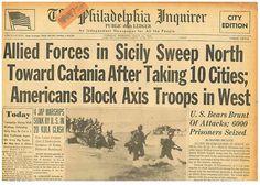 Patton 7th British 8TH ARMY TAKE SYRACUSE Catania Close  JULY 13 1943  B10