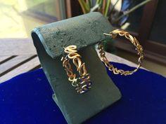 18k Gold Modernist Free Form Earrings 11.6g