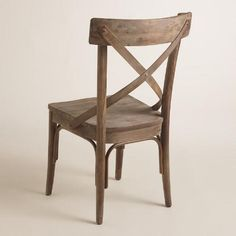 Graywash French Bistro Dining Chairs Set of 2 - v4