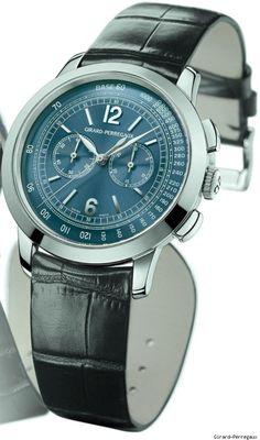 Girard-Perregaux 1966 Blue Chronograph Watch