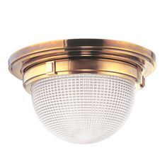The Vintage Dome Flush Mount, Aged Brass