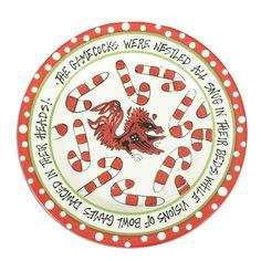 South Carolina Gamecock Christmas Plate #christmas