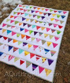 Pennant Quilt - Finish - A Quilting Sheep
