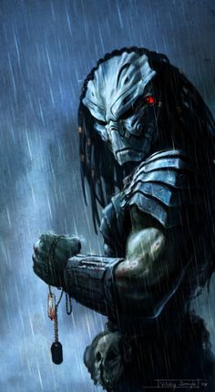Trophy by on deviantART. I love the entire Predator series. Predator II is a particular guilty pleasure. Predator Series, Predator Movie, Alien Vs Predator, Predator Costume, Wolf Predator, Predator Helmet, Science Fiction, Cyberpunk, Dragons