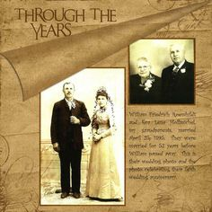 Breising's Gallery  in Scrapbook.com: Through the years. Love this layout for vintage photo history.