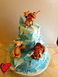 ice age cake theme Mais Ice Age Birthday Party, Baby Boy Birthday Cake, 5th Birthday, Birthday Ideas, Ice Age Cake, Movie Cakes, Dinosaur Cake, Character Cakes, Crazy Cakes