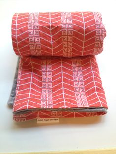 Toddler or Baby Blanket Modern Arrow Red Pattern on by StitchHappyBoutique on Etsy