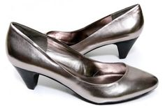 The Sasha    A sexy lady-like mid heel pump with an oval toe – comfortable, and always flattering for big feet.