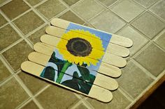 Popsicle stick puzzles - as blog states, would be great for a quiet activity that can easily go in a diaper bag!