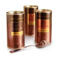 Hot Cocoa (Set of 3) - GODIVA brings its legendary chocolate heritage to exceptional premium cocoas. Made with chocolate and the highest quality all-natural ingredients, our Hot Cocoa is sure to please young and old alike. GODIVA cocoa is the ultimate hot chocolate indulgence that delivers a rich, smooth, and velvety drinking experience.
