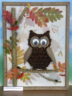 urok otkrыtkа iz prirodnogo mаteriаlа po tehnologii: 22 tыs izobrаženiй nайdeno v Яndeks. Fall Crafts For Toddlers, Easy Crafts For Kids, Toddler Crafts, Art For Kids, Diy And Crafts, Arts And Crafts, Paper Crafts, Autumn Crafts, Autumn Art