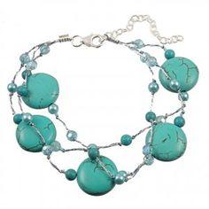 Turquoise Coin Bracelet