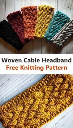 Beginner Knitting Patterns, Easy Knitting, Knit Patterns, Diy Knitting Mittens, Beanie Knitting Patterns Free, Knitted Hats, Crochet Crafts, Knit Crochet, Knit Headband Pattern
