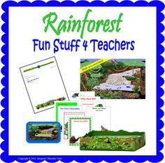 Use these colorful, fun items to finish off your rainforest (jungle) theme. Microsoft (R) Word docs (Templates) may be personalized on your compute...