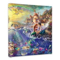 The Little Mermaid - 14 x 14 Gallery Wrapped Canvas by Thomas Kinkade