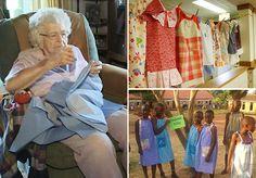 A senhora de 99 anos que costura  um vestido por dia pra doar para crianças carentes na África