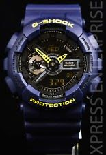 NEW WITH TAGS Casio Gshock X-Large Ana-Digi GA110LN-2A NAVY BLUE YELLOW Watch