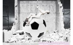 Get More Likes and Shares then Miley Cyrus wearing a soccer ball.