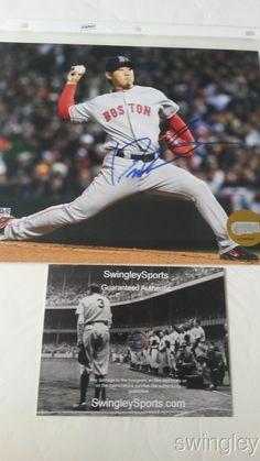 Daisuke Matsuzaka Signed 2007 WS Red Sox 8x10 Photo