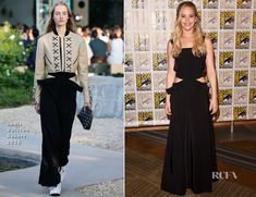 Jennifer Lawrence In Louis Vuitton - 'The Hunger Games: Mockingjay - Part Comic-Con 2015 Panel - Red Carpet Fashion Awards Celebrity Red Carpet, Celebrity Style, Louis Vuitton Clothing, Mockingjay Part 2, Red Carpet Looks, Celebs, Celebrities, Jennifer Lawrence, Best Actress