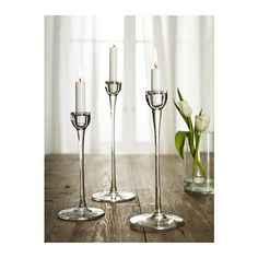 $14.99 BLOMSTER Candlestick, set of 3 IKEA Mouth blown; each candle holder is shaped by a skilled craftsman.