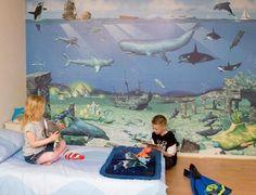 Beautiful Kids Wall Murals Bedroom Sea Adventurer Decoration Ideas