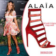 Jada Pinkett-Smith in Azzedine Alaïa Suede Strappy Sandals