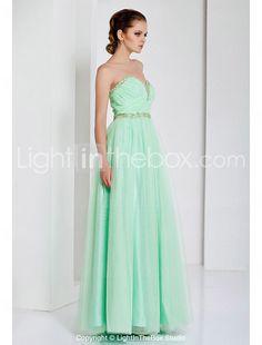 Sheath/Column Sweetheart Floor-length Tulle Evening Dress