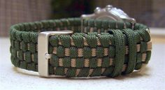 Two toned adjustable paracord watchband... by Stormdrane, via Flickr (no tutorial)
