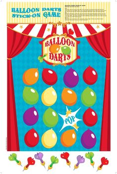 Party Supplies Balloon Darts Stick-On Game Carnival Party Supplies, Carnival Birthday Parties, Carnival Themes, Kids Party Supplies, Circus Party, Birthday Box, Third Birthday, Party Kit, Party Packs