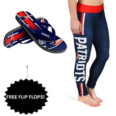 New England Patriots Leggings + Free Flip Flops