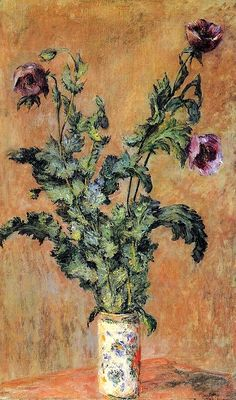 Claude Monet, 1883  Vase of Poppies