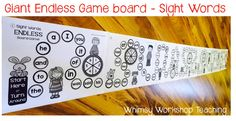 FREE Giant Sight Words Game Board and Vowels Desk Strips