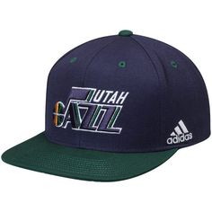 Utah Jazz adidas On-Court Adjustable Snapback Hat - Navy/Green - $27.99