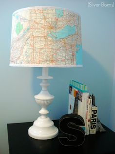The Lamp Revamp Story Steph, over at Silver Boxes had this really cool #idea of doing a lamp makeover based on the #travel theme. Here's how she created the travelling lamp! Looks real nice, doesn't it?