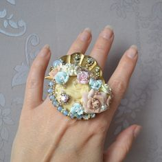 Huge Rococo inspired ring  The birth of от AbominabilisTempus