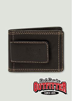 Embossed Double T Black Leather Slim Wallet with Cash Clip #RedRaiderOutfitter #TexasTech #RedRaiders #ttu