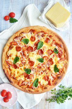 Vegan Pizza, Hawaiian Pizza, Pepperoni, Vegetable Pizza, Cake Recipes, Healthy Recipes, Food, Dance Dresses, Breads